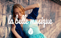 La Belle Musique with a blonde by the wall wallpaper 2560x1600 jpg