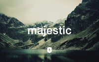 Majestic Casual logo on a mountain lake wallpaper 2560x1600 jpg