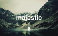Majestic Casual logo on a mountain lake wallpaper 2560x1600 jpg