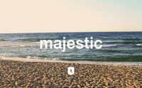 Majestic Casual logo on the beach wallpaper 2880x1800 jpg