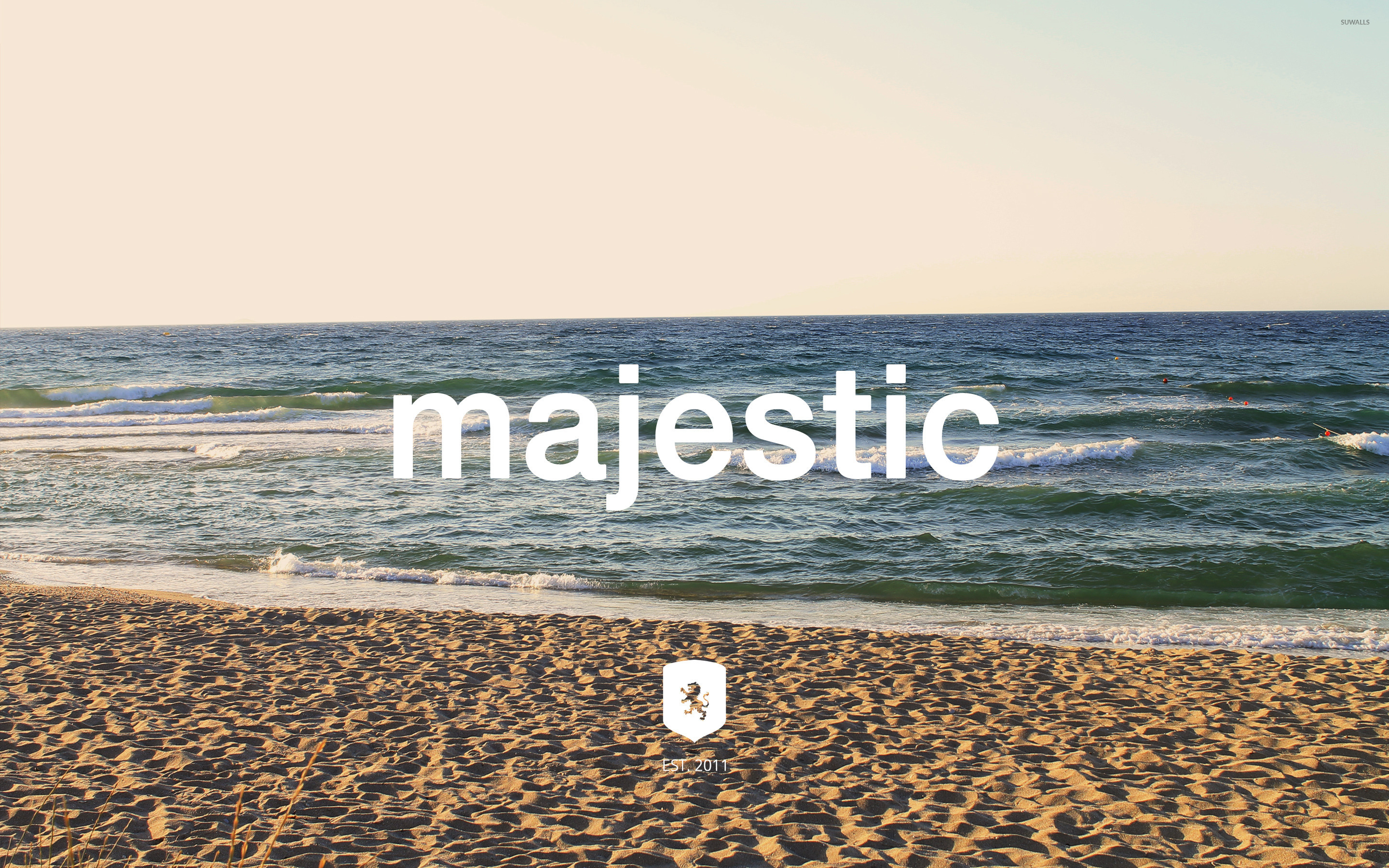 Majestic Casual logo on the beach wallpaper - Music ...