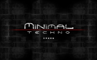 Minimal techno wallpaper