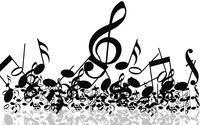 Music notes wallpaper 1920x1200 jpg