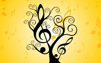 Musical tree wallpaper