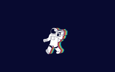 Party astronaut wallpaper