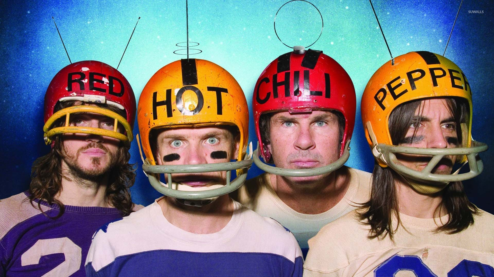 Red Hot Chili Peppers With Helmets Wallpaper Music Wallpapers 51611
