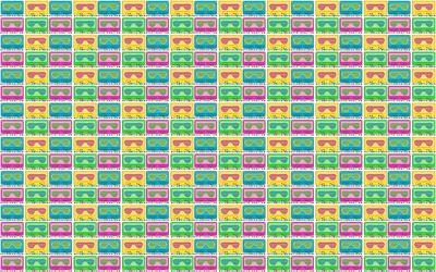 Retroverload Bright Tile Wallpaper