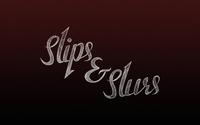Slips & Slurs logo on red wallpaper 3840x2160 jpg