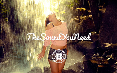TheSoundYouNeed over a girl at the waterfall wallpaper