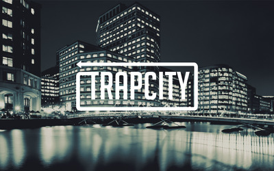 Trap City in the shiny city lights wallpaper
