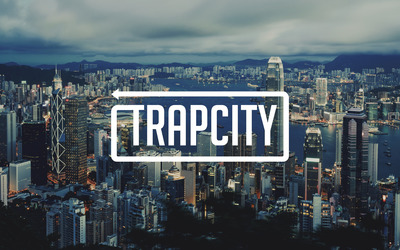 Trap City over the Hong Kong skyline wallpaper