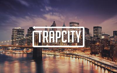 Trap City over the coastline city wallpaper