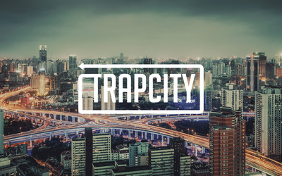 Trap City sign over the trail ights on the road wallpaper
