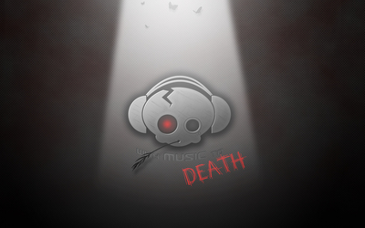 With music to death wallpaper