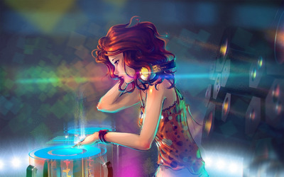 Woman DJ wallpaper