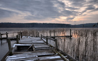 Abandoned dock at the lake wallpaper 2560x1600 jpg