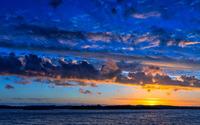 Amazing blue sky at sunset wallpaper 1920x1200 jpg