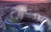 Amazing sunset above Palouse Falls wallpaper 1920x1080 jpg
