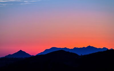 Amazing sunset above the mountains [2] wallpaper