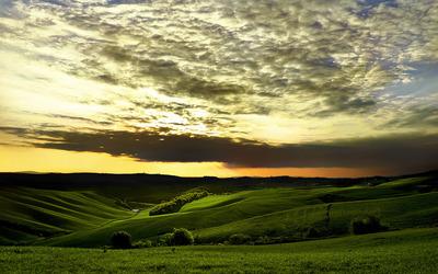 Amazing sunset clouds wallpaper