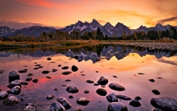 Amazing sunset in Grand Teton National Park wallpaper 2560x1440 jpg