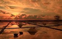 Amazing sunset over the plantation wallpaper 2560x1600 jpg