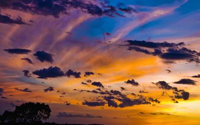 Amazing sunset sky wallpaper