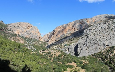 Amazing view from the Gorge of the Gaitanes wallpaper
