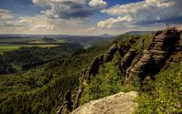 Amazing view of the Saxon Switzerland wallpaper 2560x1600 jpg