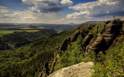 Amazing view of the Saxon Switzerland wallpaper