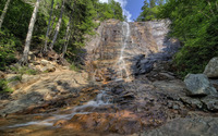 Arethusa Falls in the forest wallpaper 2880x1800 jpg