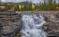 Athabasca Falls in Jasper National Park wallpaper 1920x1200 jpg