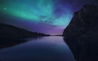 Aurora reflecting in the lake wallpaper 3840x2160 jpg