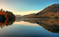 Autumn by the lake wallpaper 1920x1200 jpg