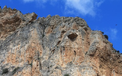 Bare cliff in the Gorge of the Gaitanes wallpaper