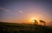 Beautiful clear sky at sunset wallpaper 1920x1200 jpg