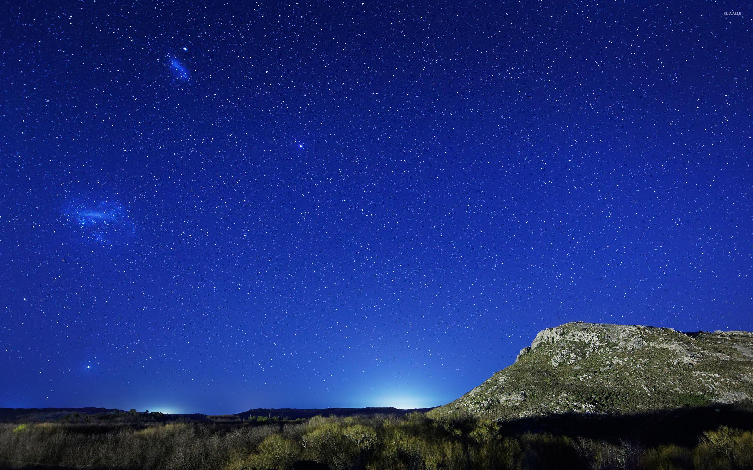 Starry Night Sky HD desktop wallpaper High Definition