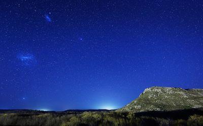 Beautiful night starry sky wallpaper