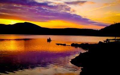 Beautiful sunset at the lake [2] wallpaper