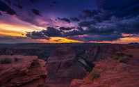 Beautiful sunset in Grand Canyon wallpaper 1920x1080 jpg
