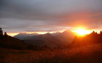 Beautiful sunset over the mountains wallpaper 2560x1600 jpg