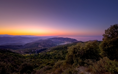 Beautiful sunset view from Mont Agel wallpaper