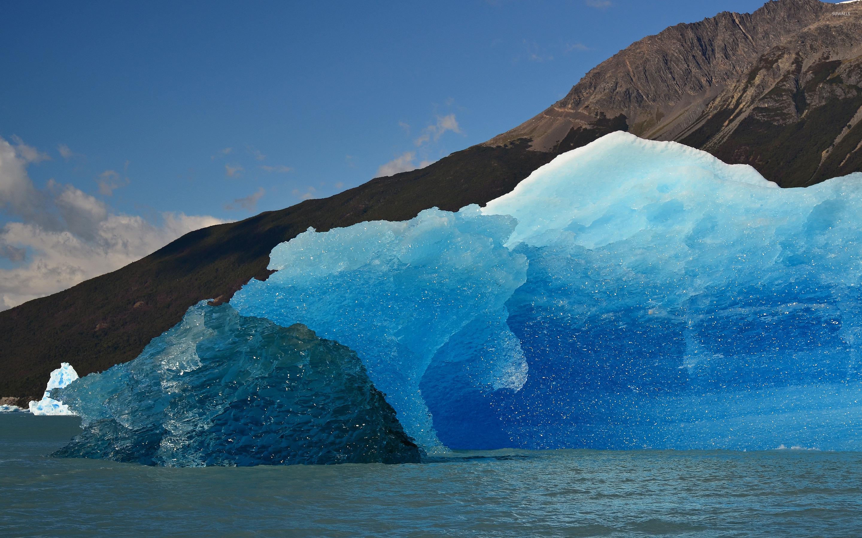 Blue Melting Glacier Wallpaper