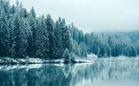 Blue winter lake wallpaper 2560x1440 jpg