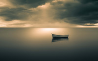 Boat on peaceful ocean wallpaper 1920x1200 jpg