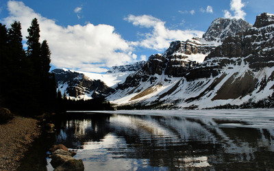 Bow Lake, Canada wallpaper