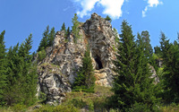 Cave in the rocky peak wallpaper 2560x1600 jpg