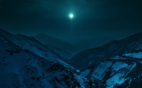 Clear sky over the snowy mountains wallpaper 3840x2160 jpg