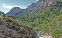 Cliffs along the Gorge of the Gaitanes wallpaper 2880x1800 jpg