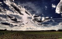 Clouds over the wheat field wallpaper 1920x1080 jpg